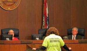 Karen Karabell testifying