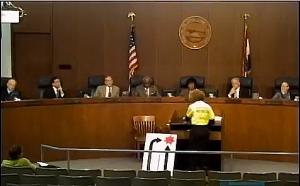 Karen Karabell finishing her testimony.