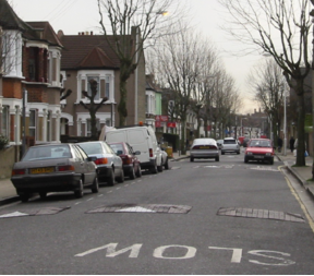 East London speed humps, 2002
