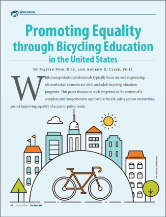 Promoting Equality through Bicycling Education cover