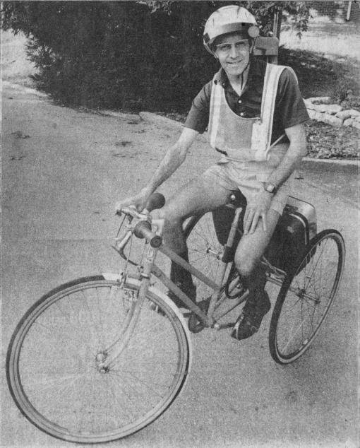 Pion on trike 1987