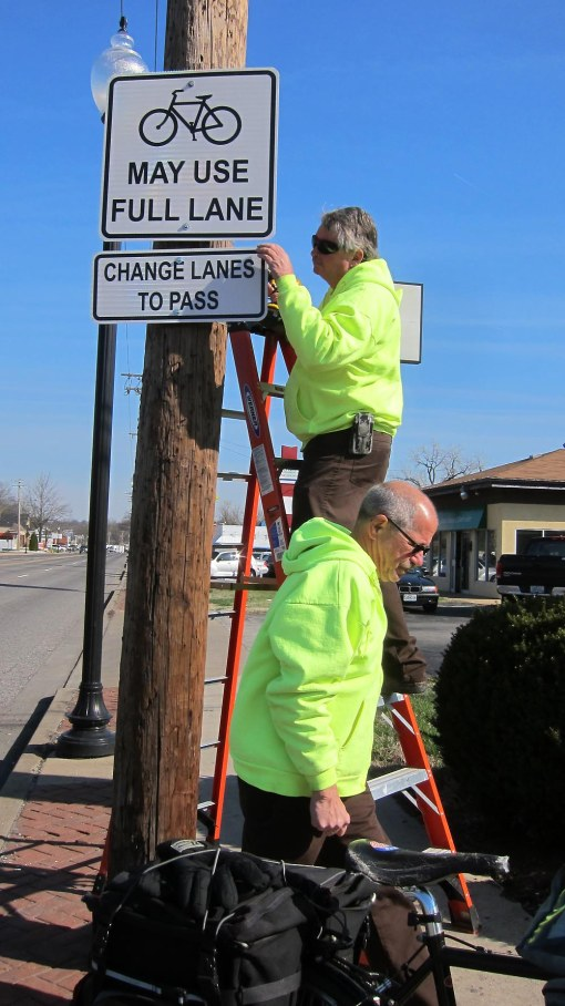 Final adjustment of new signs