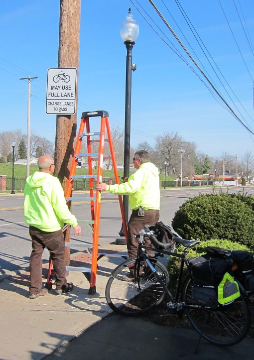 Preparing to remove old sign