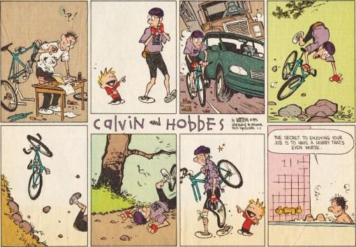 Calvin & Hobbes bikemare 4-2-1995 P-D